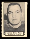 1962 Topps CFL #40  Marion Drew Deese  Front Thumbnail