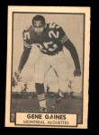 1962 Topps CFL #86  Gene Gaines  Front Thumbnail