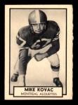 1962 Topps CFL #88  Mike Kovac  Front Thumbnail