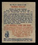 1949 Bowman #95  Howie Pollet  Back Thumbnail