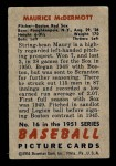 1951 Bowman #16  Mickey McDermott  Back Thumbnail