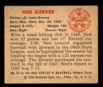 1950 Bowman #51  Ned Garver  Back Thumbnail
