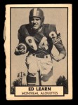 1962 Topps CFL #89  Ed Learn  Front Thumbnail
