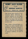 1962 Topps CFL #92  Bobby Jack Oliver  Back Thumbnail