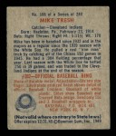 1949 Bowman #166  Mike Tresh  Back Thumbnail