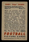 1951 Bowman #72  Harry Gilmer  Back Thumbnail