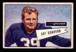 1952 Bowman Small #46  Art Donovan  Front Thumbnail