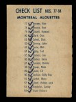1962 Topps CFL #94   Montreal Alouettes Team Back Thumbnail