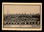 1962 Topps CFL #94   Montreal Alouettes Team Front Thumbnail