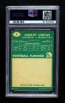 1960 Topps #1  Johnny Unitas  Back Thumbnail