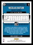 2018 Donruss #18  Nicolas Batum  Back Thumbnail