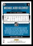 2018 Donruss #38  Michael Kidd-Gilchrist  Back Thumbnail