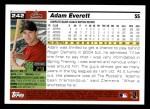 2005 Topps #242  Adam Everett  Back Thumbnail
