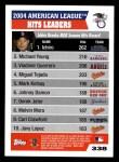 2005 Topps #338   -  Ichiro Suzuki / Michael Young / Vladimir Guerrero AL Hits Leaders Back Thumbnail