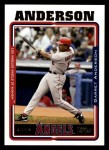 2005 Topps #369  Garret Anderson  Front Thumbnail