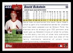 2005 Topps #462  David Eckstein  Back Thumbnail