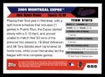 2005 Topps #655   Montreal Expos Team Back Thumbnail