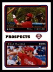 2005 Topps #689   -  Ryan Howard / Cole Hamels Mariners Prospects Front Thumbnail