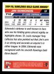 2005 Topps #710   -  Jim Edmonds Golden Glove Back Thumbnail