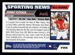 2005 Topps #725   -  Johnny Estrada All-Star Back Thumbnail