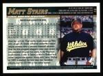1998 Topps #16  Matt Stairs  Back Thumbnail