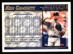 1998 Topps #289  Ken Caminiti  Back Thumbnail