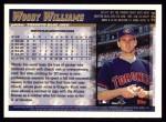1998 Topps #224  Woody Williams  Back Thumbnail