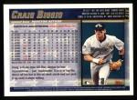 1998 Topps #318  Craig Biggio  Back Thumbnail