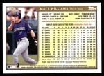 1999 Topps #120  Matt Williams  Back Thumbnail
