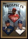 1999 Topps #427  Marlon Anderson / Ron Belliard / Orlando Cabrera  Front Thumbnail