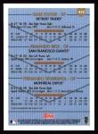 1999 Topps #432  Gabe Kapler / Armando Rios / Fernando Seguignol  Back Thumbnail