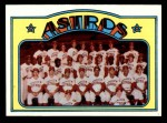 1972 Topps #282   Astros Team Front Thumbnail