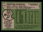 1978 Topps #445  Preston Pearson  Back Thumbnail