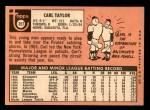 1969 Topps #357  Carl Taylor  Back Thumbnail