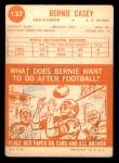 1963 Topps #137  Bernie Casey  Back Thumbnail