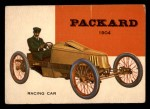 1954 Topps World on Wheels #133   Packard Racing Car 1904 Front Thumbnail