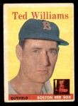 1958 Topps #1  Ted Williams  Front Thumbnail
