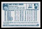 1977 Kellogg's #41  Jim Lonborg  Back Thumbnail