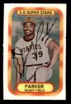 1977 Kellogg's #19  Dave Parker  Front Thumbnail