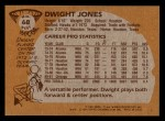 1981 Topps #68 MW Dwight Jones  Back Thumbnail