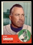 1963 Topps #550  Duke Snider  Front Thumbnail
