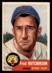 1953 Topps #72  Fred Hutchinson  Front Thumbnail