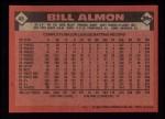 1986 Topps #48  Bill Almon  Back Thumbnail