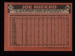 1986 Topps #135  Joe Niekro  Back Thumbnail