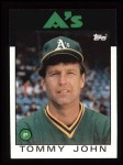 1986 Topps #240  Tommy John  Front Thumbnail