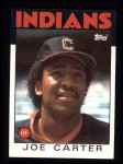 1986 Topps #377  Joe Carter  Front Thumbnail