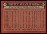1986 Topps #445  Bert Blyleven  Back Thumbnail