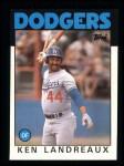 1986 Topps #782  Ken Landreaux  Front Thumbnail