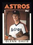 1986 Topps #389  Glenn Davis  Front Thumbnail
