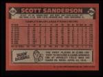 1986 Topps #406  Scott Sanderson  Back Thumbnail